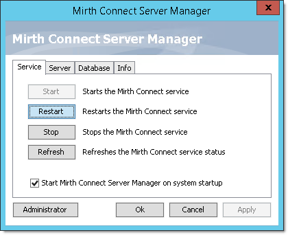 Setting up the Server Manager